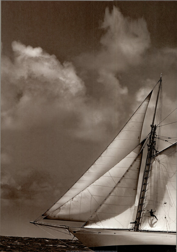 Sépia Sails II by Cory Silken - 18 X 28 Inches - Fine Art Poster.