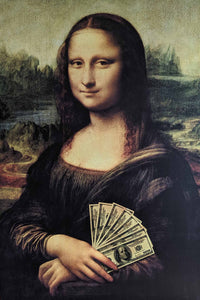 Mona Lisa (Money) - 24 X 36 inches  (Giclee Canvas Rolled)