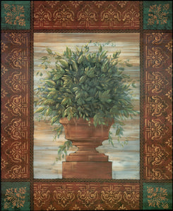 Topiary Urn, 1996 by Michael Palmer - 24 X 30 Inches - Fine Art Poster.