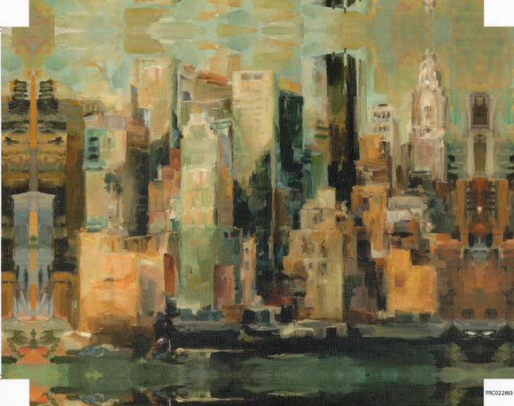 Cityscape - 22 X 28 Inches (Canvas Roll or Stretched ready to hang)