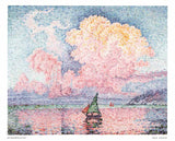 Antibes, The Pink Cloud by Paul Signac - 10 X 12 Inches - Fine Art Poster.