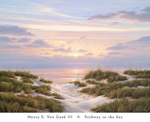 Pathway to the Sea by Henry E. Von Genk III - 26 X 32