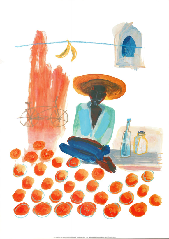 The Orange Seller by Nelly Dimitranova - 20 X 28