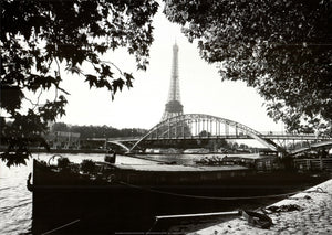 "Debilly Footbridge Over the Seine River by Bruno De Hogues - 20 X 28"" - Fine Art Poster."