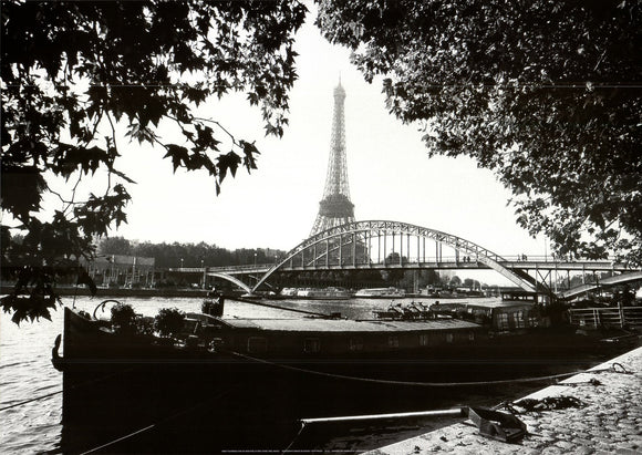 Debilly Footbridge Over the Seine River by Bruno De Hogues - 20 X 28