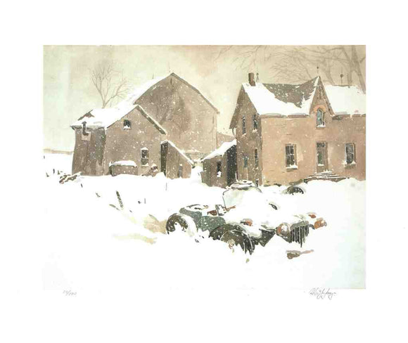 Canadian Winter - (Lithograph Numbered & Signed) 30/500