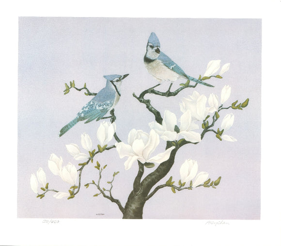 Two Birds on a Branch (Lithograph Numbered & Signed) 50/450