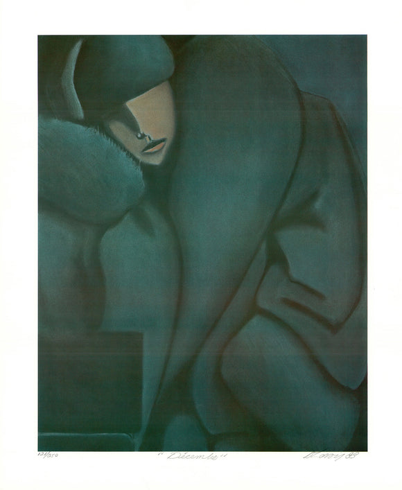 Décembre , 1988  (Lithograph Titled, Numbered & Signed) 121/250