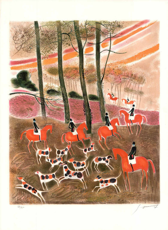 La Chasse  (Lithograph Numbered & Signed) 56/250
