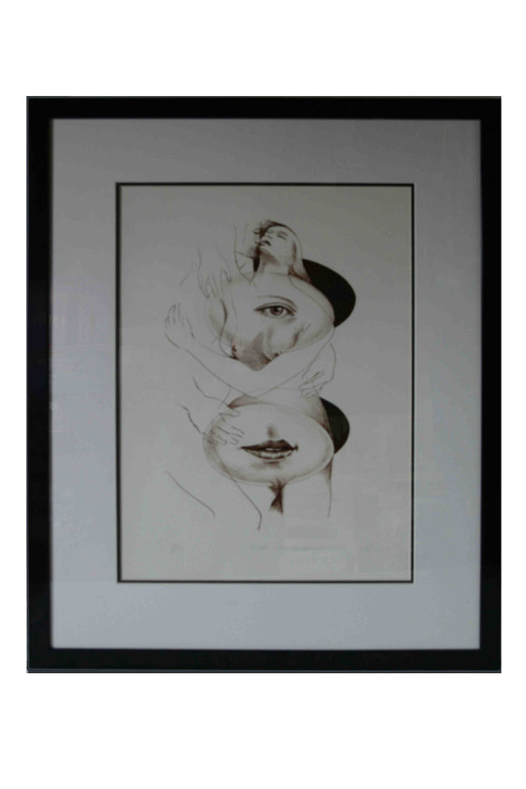 The Eyes And The Mouth (Framed Lithograph Numbered & Signed) 42/75