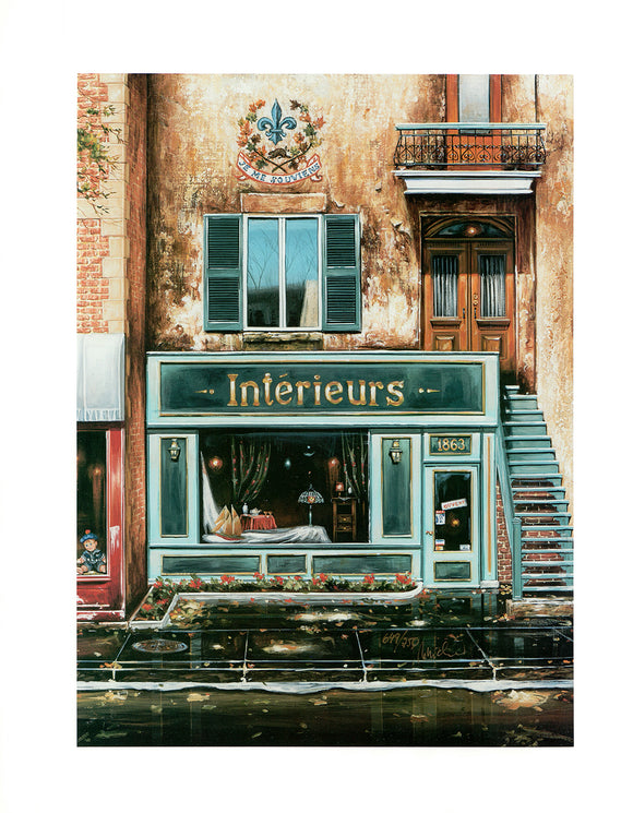 Intérieurs / Interiors (Lithograph Numbered & Signed) 649/750