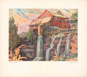 "Mill on the Cliff by Nicholas Hornyansky - 18 X 20"" (Offset Litho  Numbered, Titled & Signed) 13/55"
