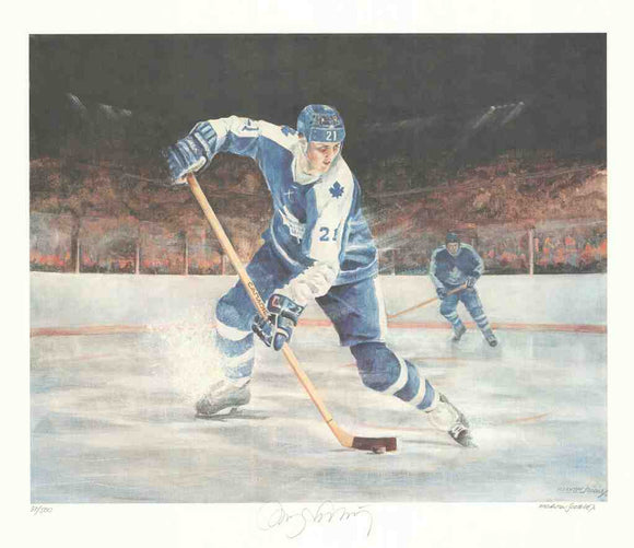 Toronto Maple Leafs by Mervyn Scoble (Lithograph Numbered & Signed by Borje Salming) 26/500