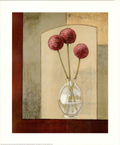 Glass vase with alliums