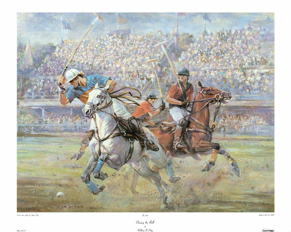 Chasing the Ball by William R. Petty - 26 X 32 Inches - Fine Art Poster.