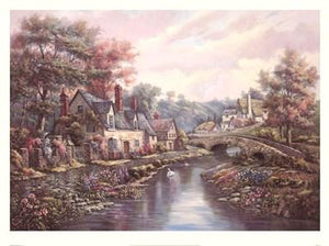 "Valley Of The River Beck by Carl Valente - 24 X 32"" - Fine Art Poster."