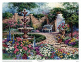 "Tranquil Garden by Barbara Mock - 27 X 32"" - Fine Art Poster."