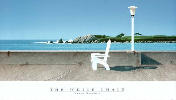 The White Chair by Keith Hiscock - 24 X 36 Inches - Fine Art Poster.