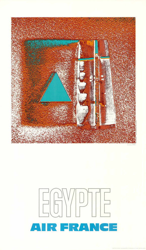 Air France: Egypte, 1971 by Raymond Pagès (Offset Lithograph/Poster)