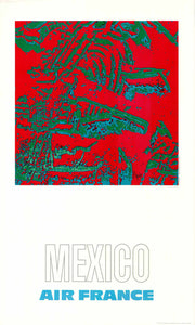 Air France: Mexico, 1971 by Raymond Pagès (Offset Lithograph/Poster)