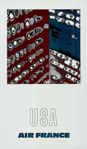 Air France: USA, 1971 by Raymond Pagès (Offset Lithograph/Poster)