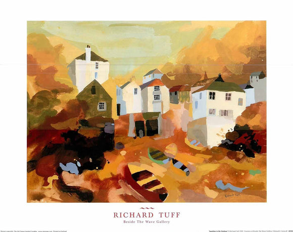 Sunshine in the Harbour by Richard Tuff - 16 X 20 Inches (Poster)
