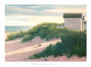"Evening Light on the Beach by Olivier Raab - 24 X 32""-Fine Art Poster."