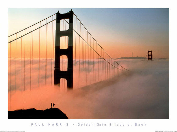Golden Gate Bridge at Dawn  by Paul Harris -  24 X 32