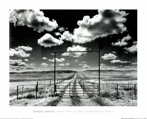 Road with Clouds by Stanislaus County - 16 X 20