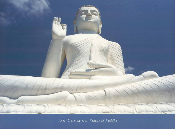 Ian Cumming - Statue of Buddha - 24 X 32 Inches - Fine Art Poster.