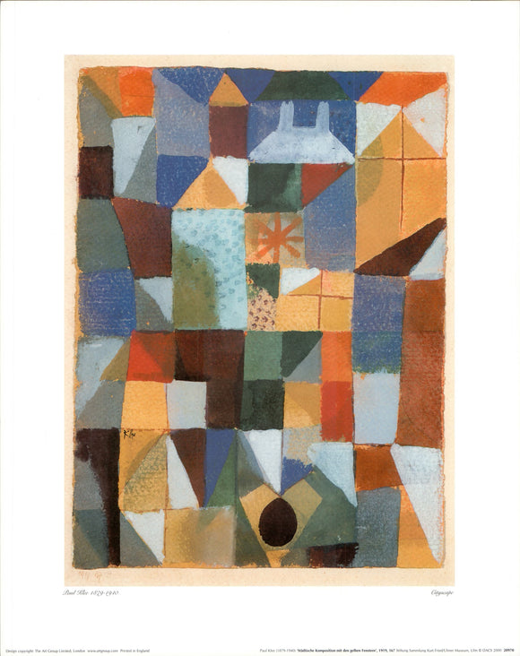 Cityscape, 1919 by Paul Klee - 16 X 20