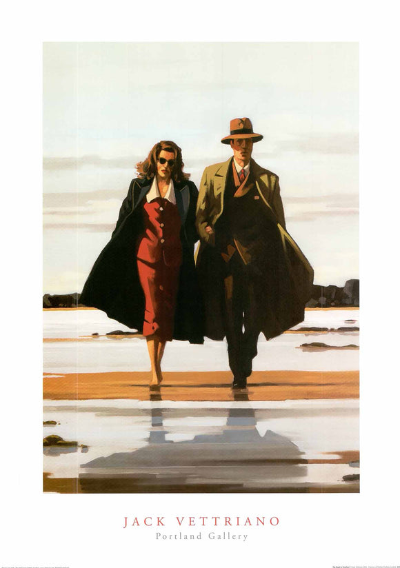 The Road to Nowhere by Jack Vettriano - 20 X 28 inches - Fine Art Poster.