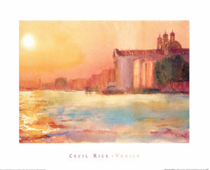 "Sunset over Zattere by Cecil Rice - 16 X 20"" - Fine Art Poster."