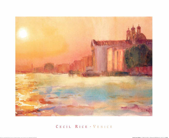 Sunset over Zattere by Cecil Rice - 16 X 20