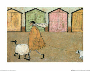"Ernest, Doris, Horace and Stripes by Sam Toft - 16 X 20"" - Fine Art Poster."