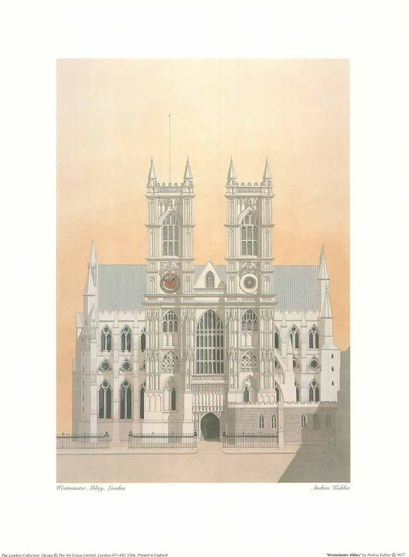 Westminster Abbey by Andras Kaldor - 12 X 16
