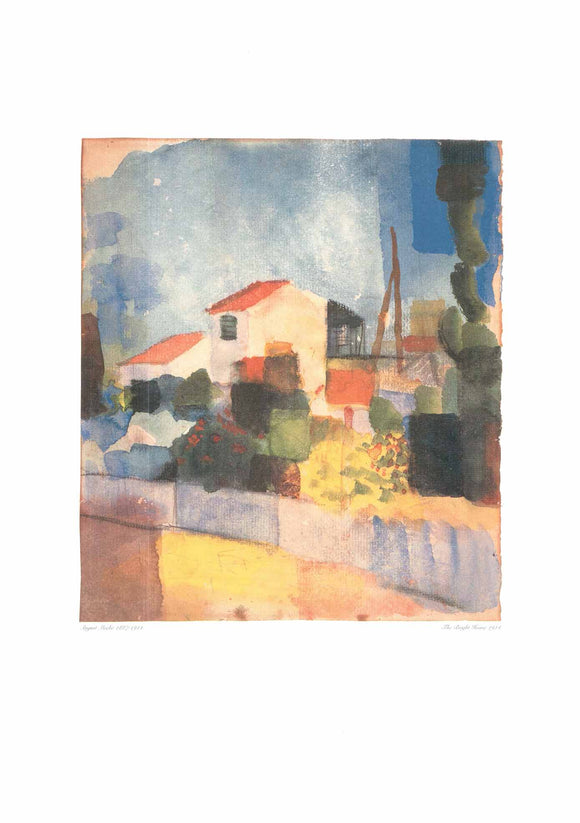 The Bright House by August Macke - 20 X 28