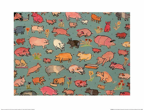 49 Pigs by Sarah Battle - 12 X 16