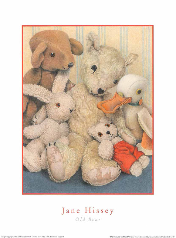 Old Bear and his friends by Jane Hissey - 12 X 16