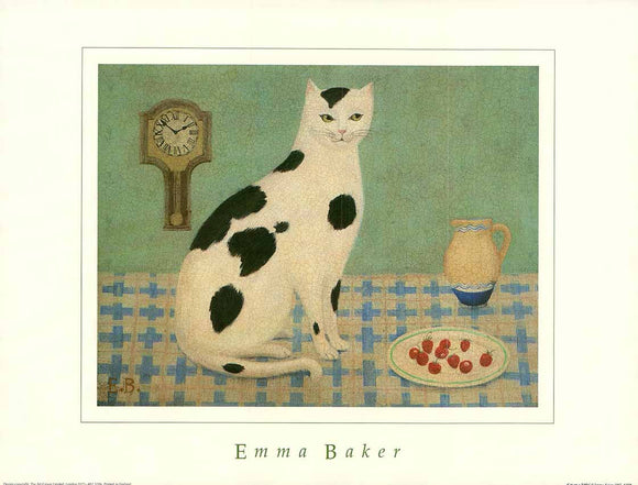 Cat on a Table by Emma Baker - 12 X 16