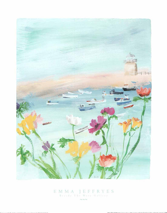 Boats Through Flowers by Emma Jeffryes - 16 X 20