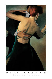 "Evening in Jade by Bill Brauer - 24 X 36"" - Fine Art Poster."