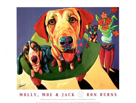 Molly, Moe & Jack by Ron Burns - 18 X 24