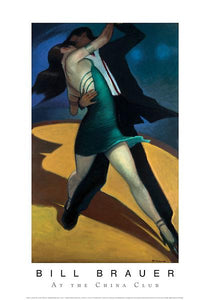 "At the China Club by Bill Brauer - 14 X 20"" - Fine Art Poster."