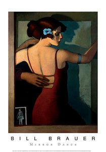 "Mirror Dance by Bill Brauer - 14 X 20"" - Fine Art Poster."