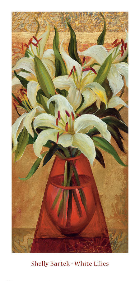 White Lilies by Shelly Bartek - 12 X 24