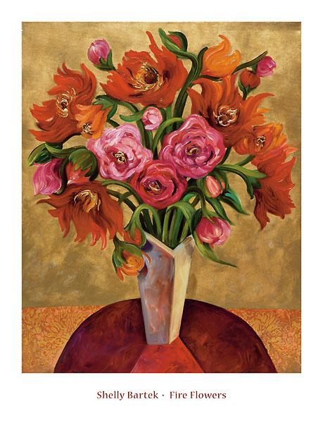 Fire Flowers by Shelly Bartek - 26 X 34