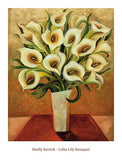 "Calla Lily Bouquet by Shelly Bartek - 08 X 10"" - Fine Art Poster."