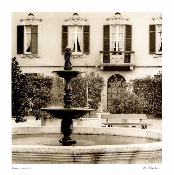 Piazza, Lombardy by Alan Blaustein - 14 X 14 Inches (Poster)