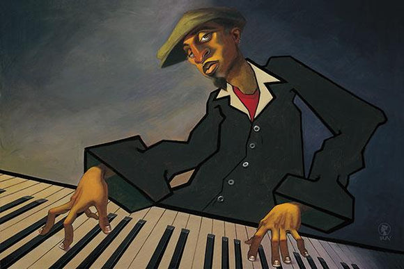Piano Man II by Justin Bua - 24 X 32 Inches - (Canvas Ready to Hang)